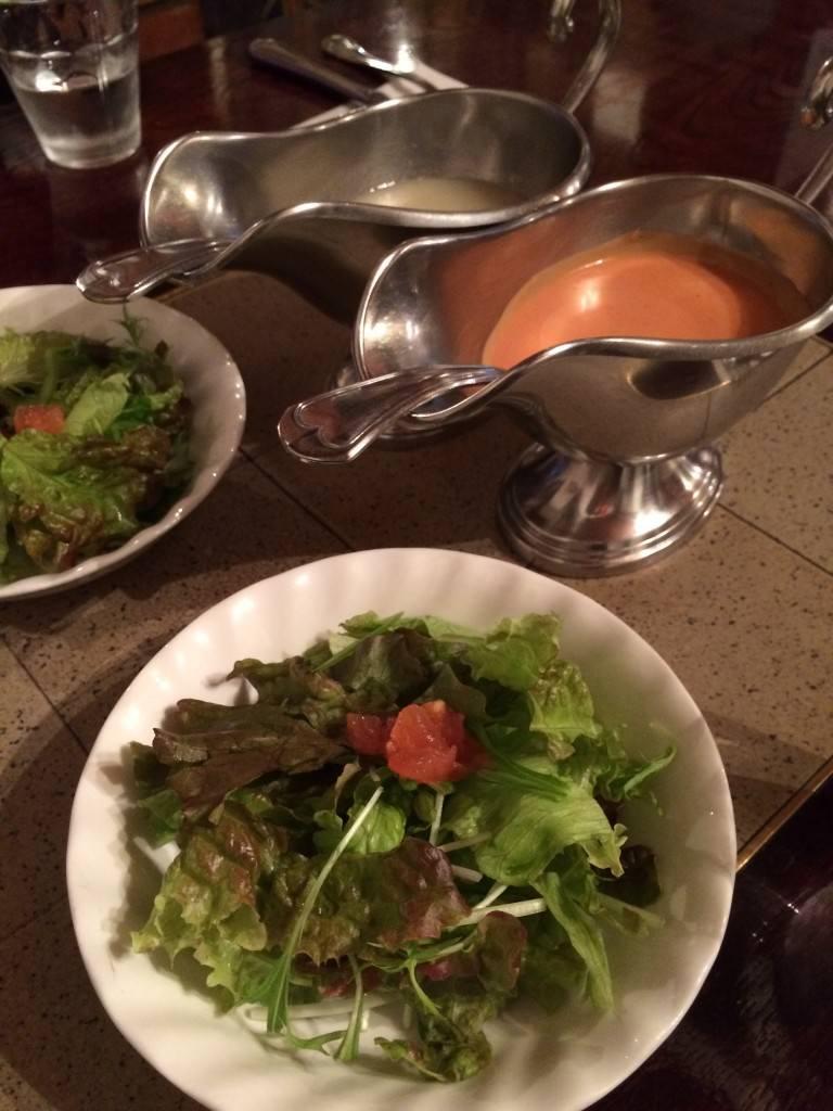 サラダとドレッシング(2種類)