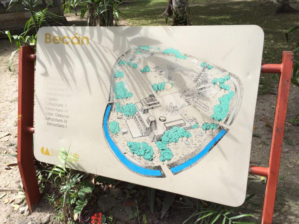 ベカン遺跡の地図