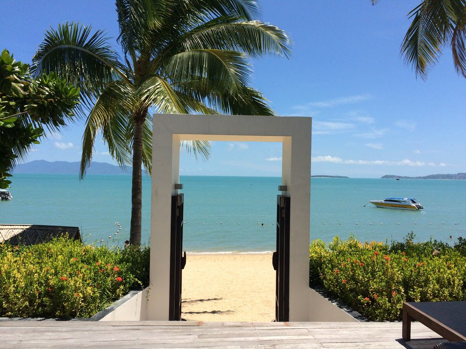 プライベートビーチ入り口
