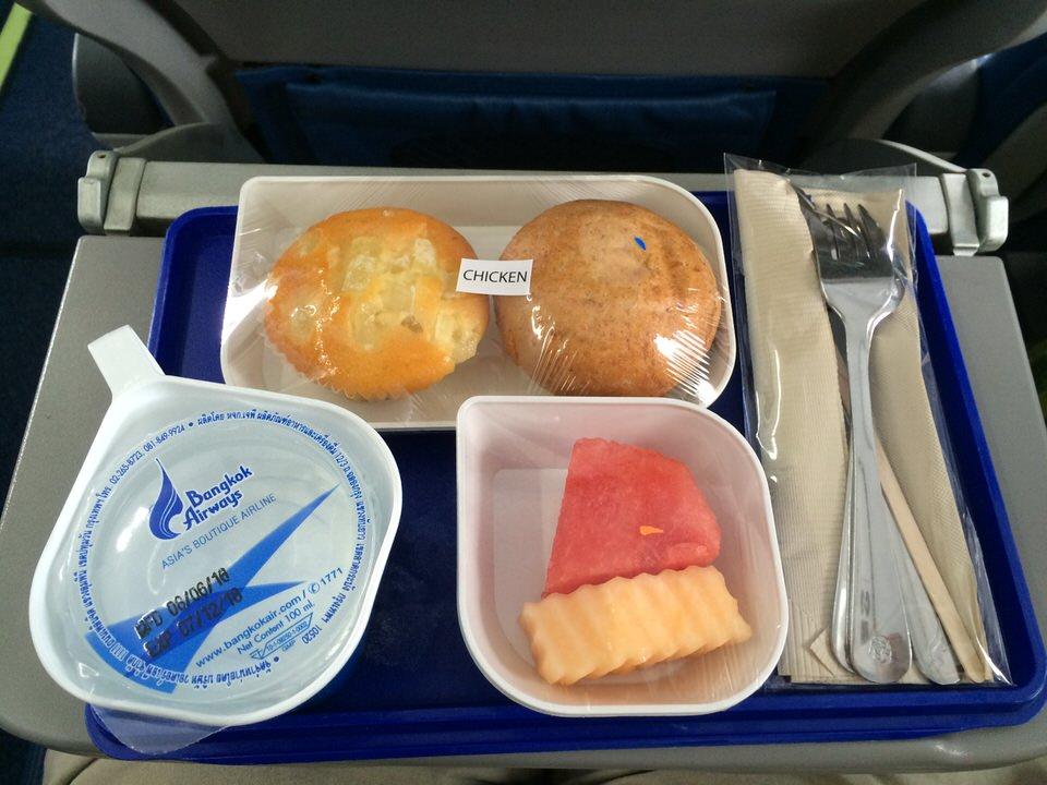 バンコクエアウェイズの機内食