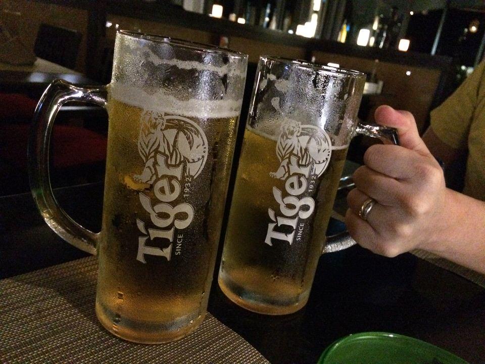 1パイントで130THBのタイガービール