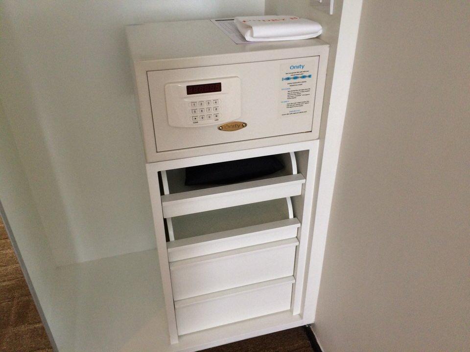 メインベッドルームにあるセキュリティボックス