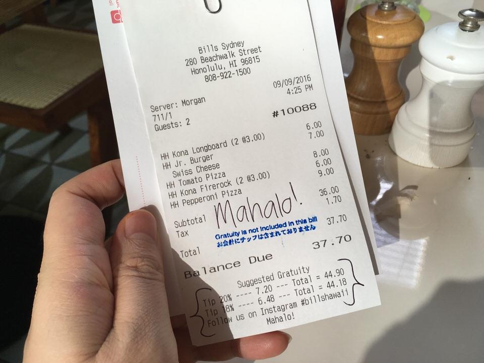 ビール4杯に料理3品で$37.7!