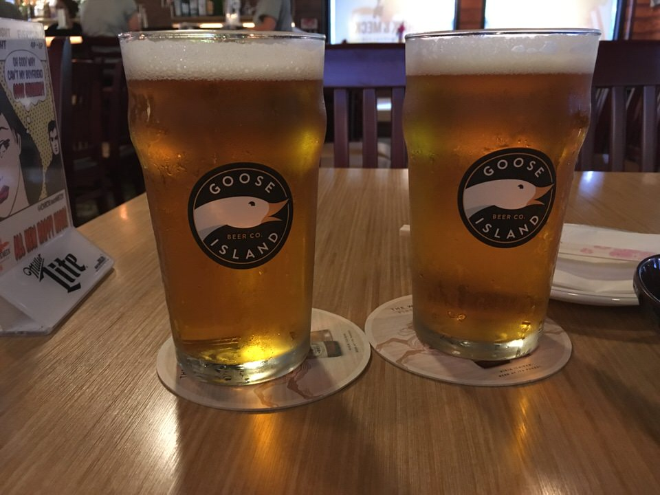 Goose Island IPAで乾杯!