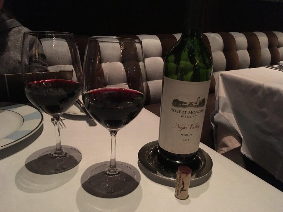 ナパバレーの赤ワイン $59でかんぱい!