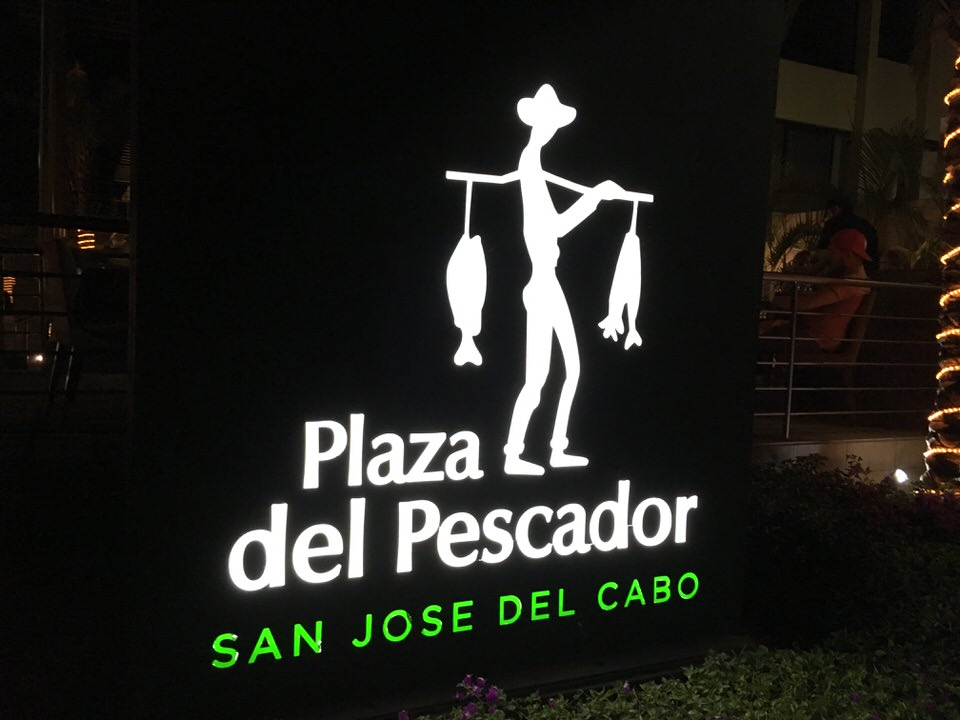 Plaza del Pescadorの看板