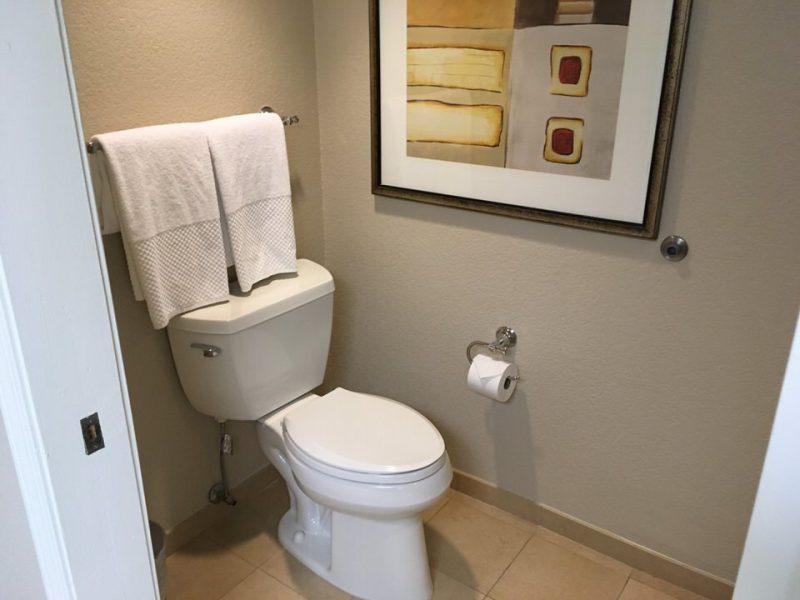 シャワールームにあるトイレ(ウォシュレットなし)