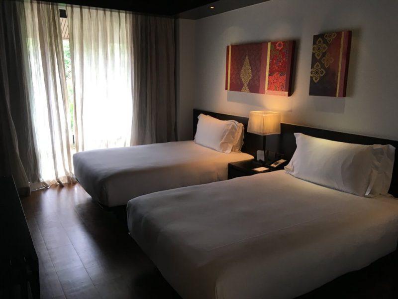 ゲストベッドルームにはベッドが2つ