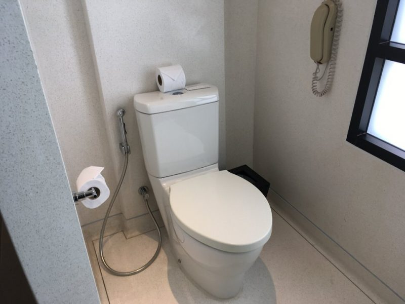 マスターベッドルームのトイレ