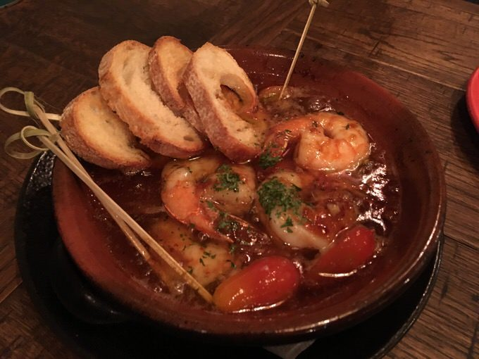 Shrimp & Tomato Chilijo エビとトマトのチリージョ 8.5ドル