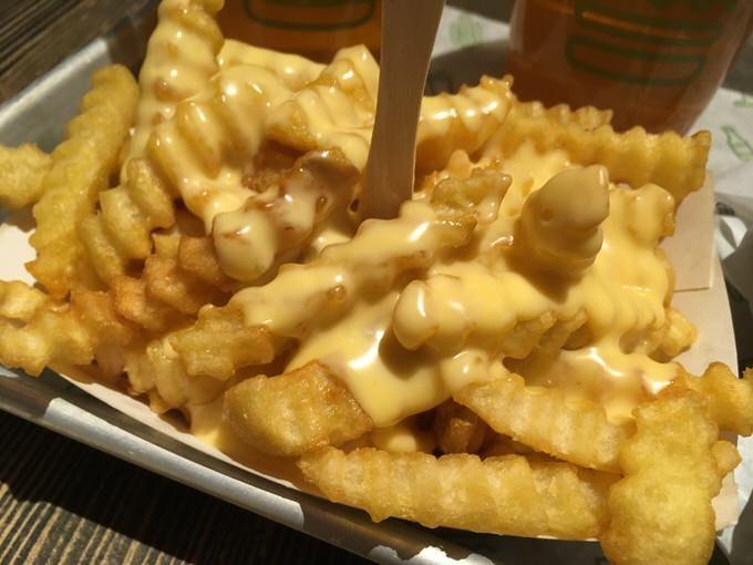 チーズフライ cheese fries 3.99ドル