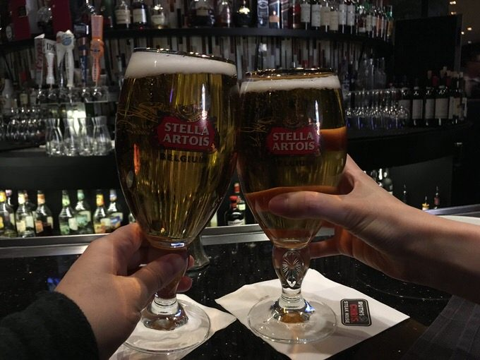 STELLA ARTOISで乾杯!