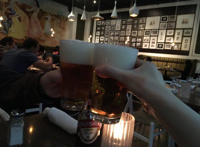 Kingfisherで乾杯!