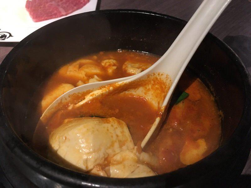 島豆腐のスンドゥブチゲ