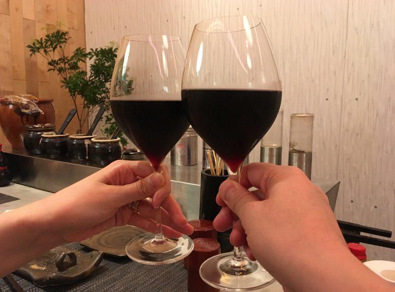 3杯目は赤ワイン