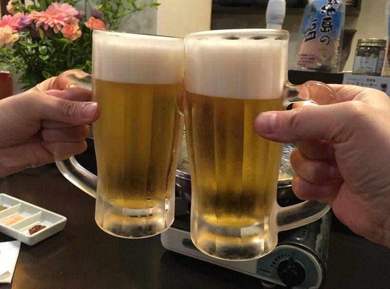 オリオン生ビールで乾杯!