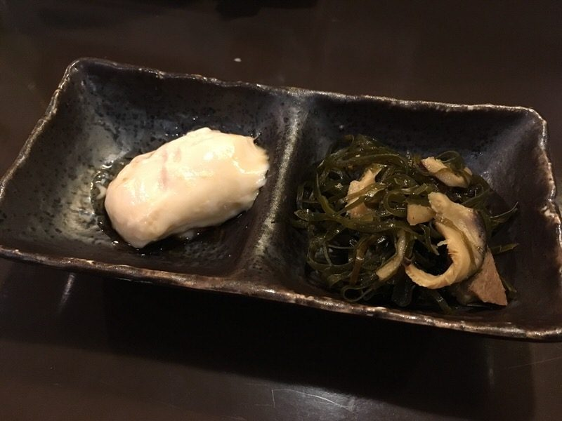 前菜のジーマミー豆腐とクーブイリチー