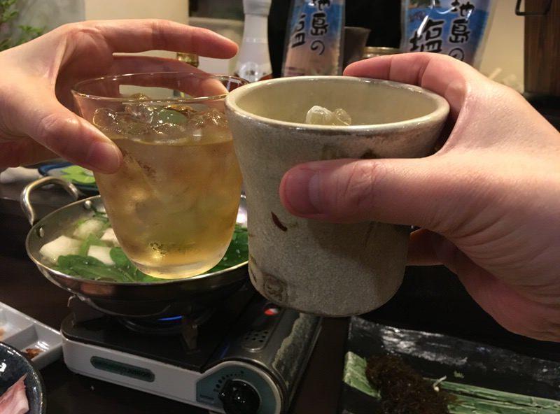 梅酒と泡盛で再び乾杯!