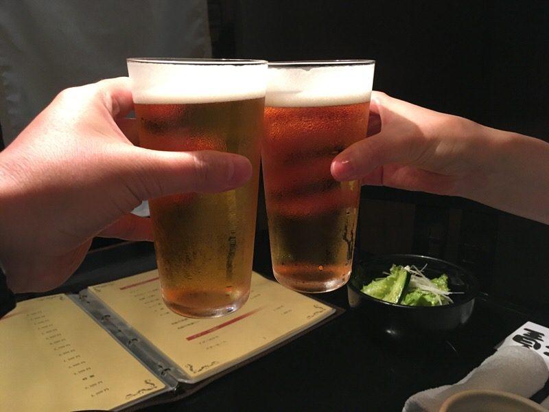 サントリープレミアム生 650円で乾杯!