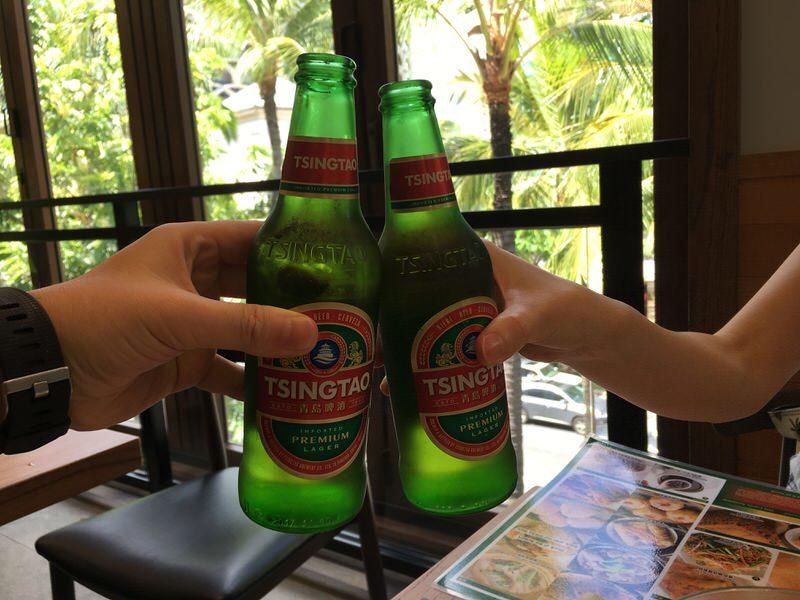 青島ビール 7.75ドルで乾杯!