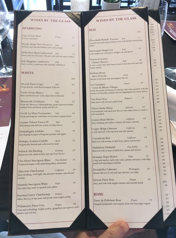 アペティート・クラフトピザ&ワインバー 通常ドリンクメニュー グラスワイン