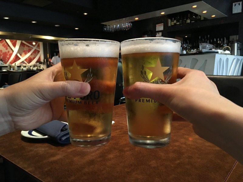3ドルのサッポロ生ビールで乾杯!