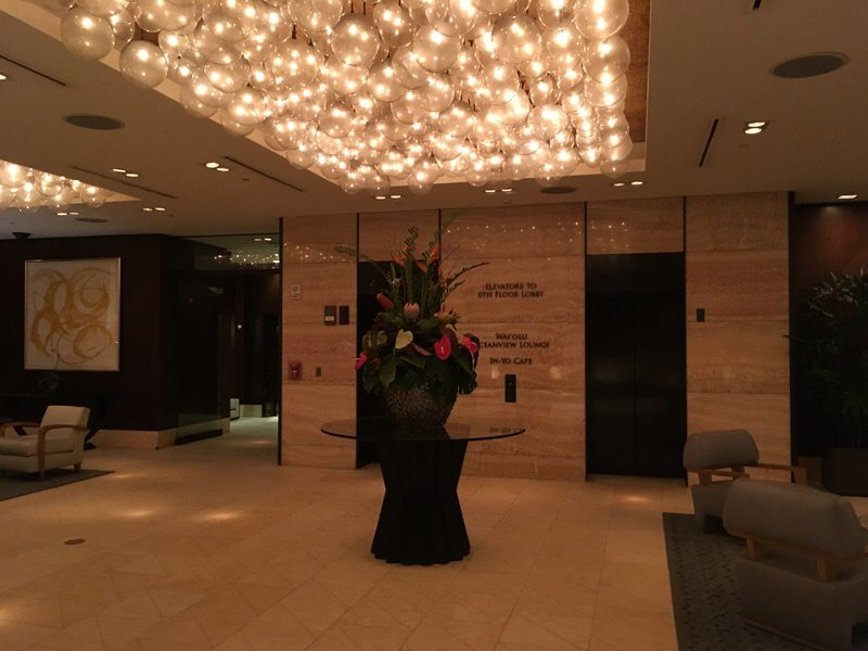 ワイオル・オーシャンビュー・ラウンジがあるトランプワイキキ1階