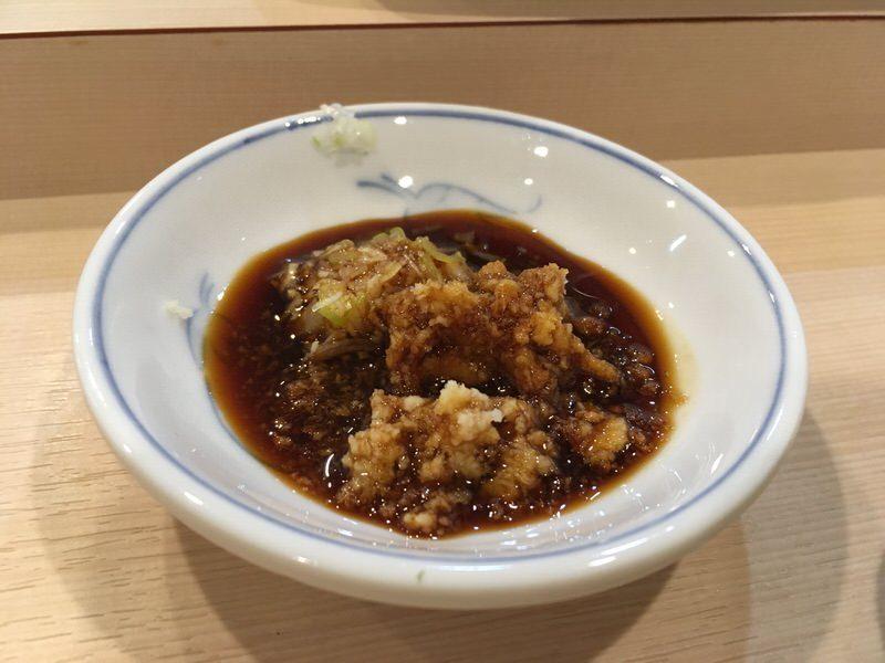 イカの刺身用の生姜ネギ醤油