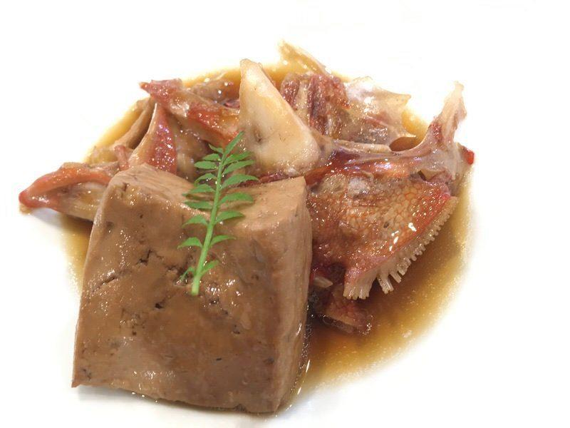 アラ煮と豆腐