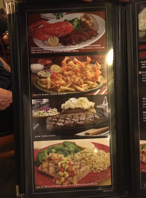 トニーローマ ワイキキのメニュー シグネチャーステーキとシーフードの写真