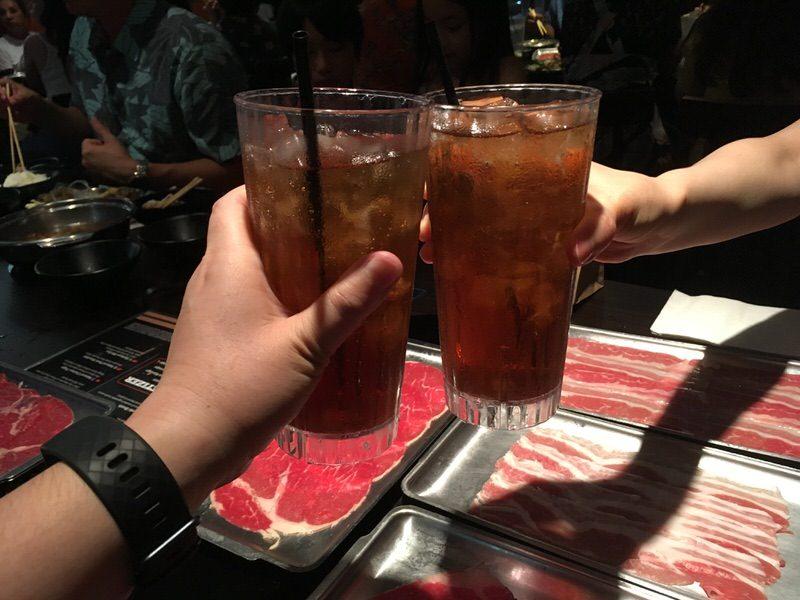 アイスティーで乾杯!