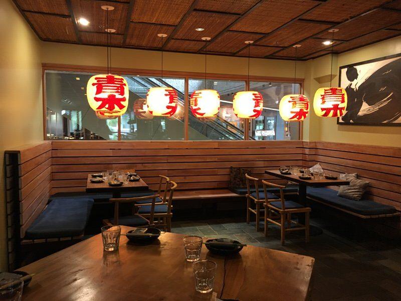 道楽寿司のテーブル席