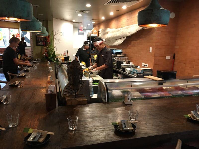 道楽寿司の寿司カウンター