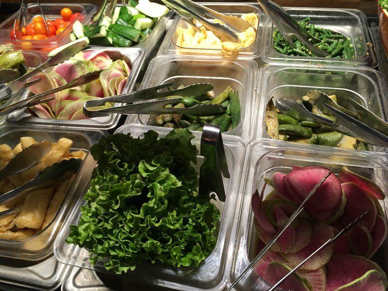取り放題の野菜たち