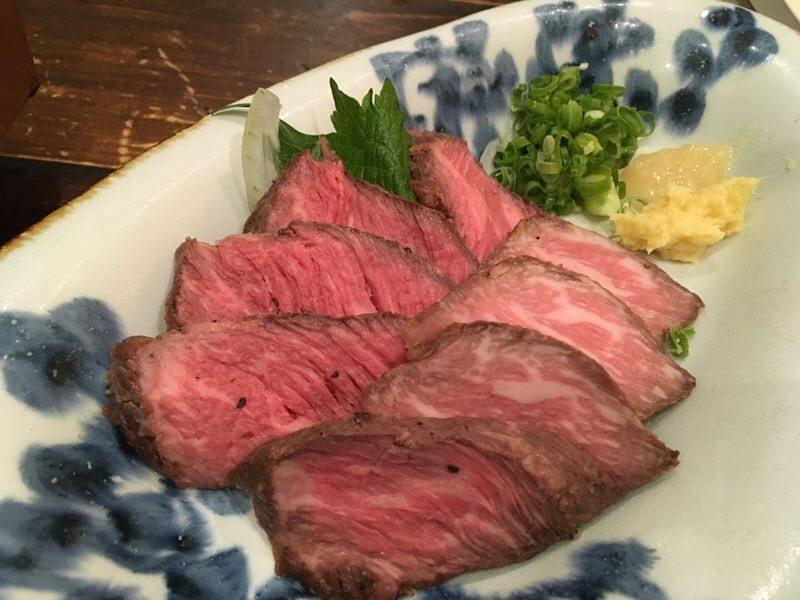 6品目:牛肉のたたき(Seared Tataki Beef)