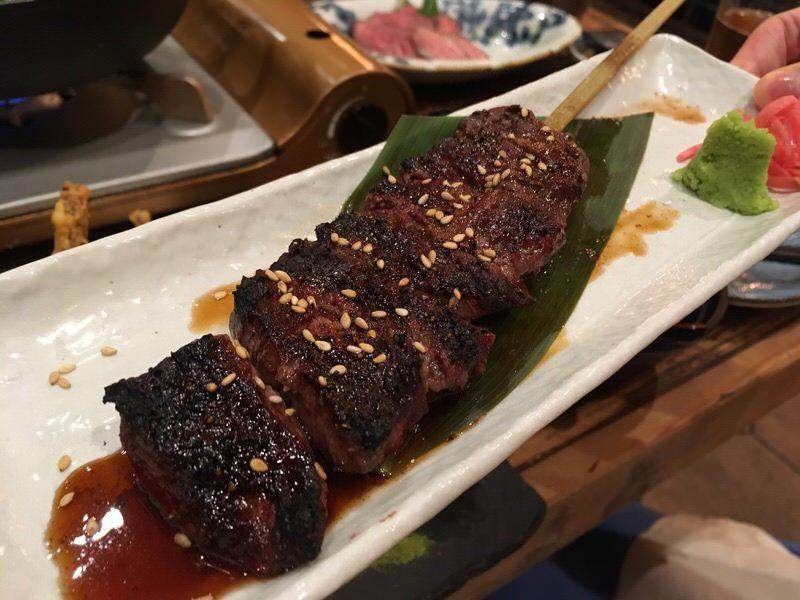 7品目:ハラミの炭焼き (Charbroiled Harami (Skirt Steak))