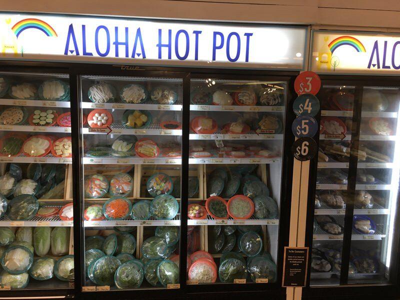 スイートホームカフェの鍋の具が入った冷蔵庫