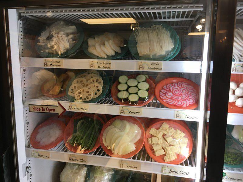 スイートホームカフェの具材 きのこ、野菜