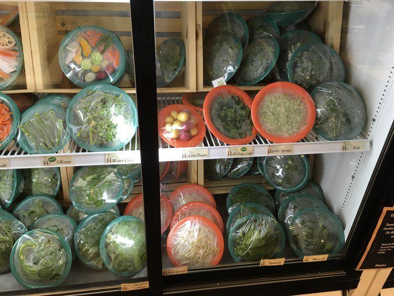 スイートホームカフェの具材 いろいろな青い野菜