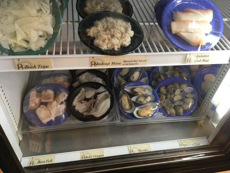 スイートホームカフェの具材 魚介類