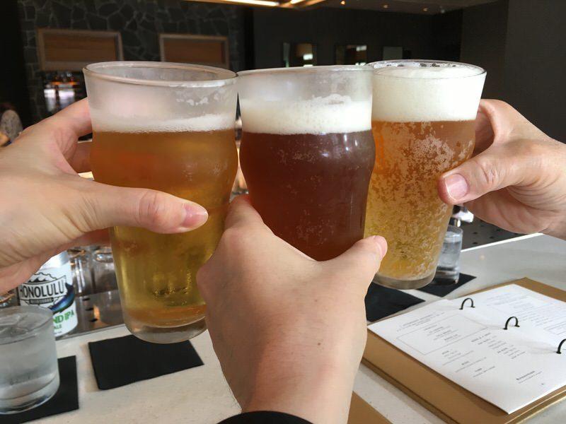 3種類のビールで乾杯!