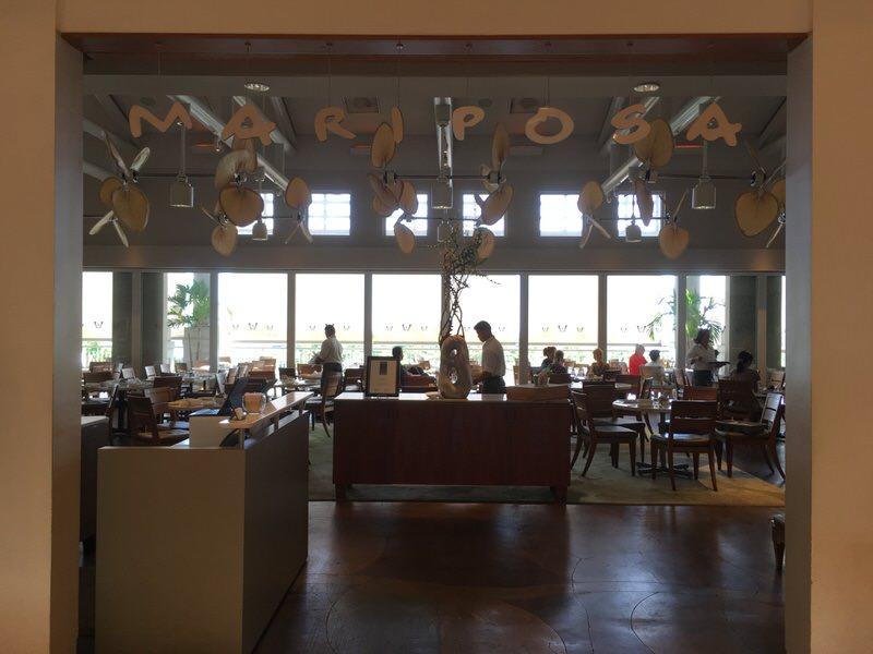 MARIPOSAの文字がかわいい入り口