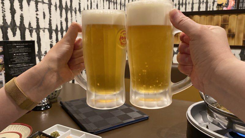 オリオンドラフト生ビールで乾杯!